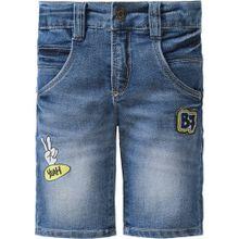 BLUE SEVEN Jeansshorts mit Patches rauchblau