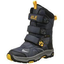 Jack Wolfskin Jungen Boys Snow Diver Texapore Schneestiefel, Grau (Burly Yellow XT 3802), 28 EU