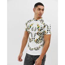Hermano – T-Shirt mit Schmuck-Print-Weiß