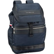 Tommy Hilfiger Rucksack / Daypack Nylon Mix Flap Backpack 4768 Tommy Navy