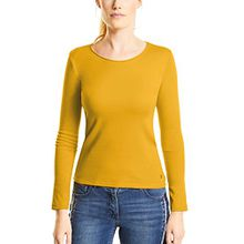 Cecil Damen Langarmshirt 311485 PIA, Gelb (Golden Lemonade 11197), X-Large