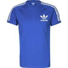 Adidas T-Shirt Men CLFN Tee AZ8129 Blau Weiß (XS)