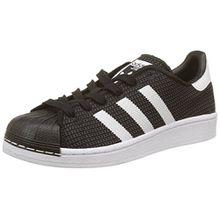 adidas Unisex-Kinder Superstar Sneaker, Schwarz (Core Black/Footwear White/Footwear White), 37 1/3 EU