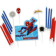Amscan Geburtstagskerzen Spider-Man, 17 Stück