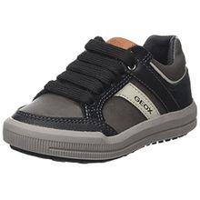 Geox Jungen J Arzach Boy I Sneaker, Grau (Dk Grey/Black), 36 EU