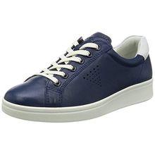 Ecco Damen Soft 4 Derby, Blau (50446TRUE Navy/White), 41 EU