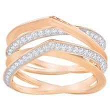 Genius Ring, weiss, rosé Vergoldung