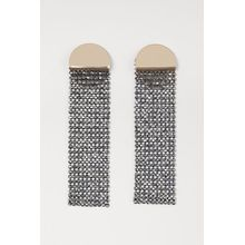 H & M - Ohrringe mit Strass - Grau - Damen