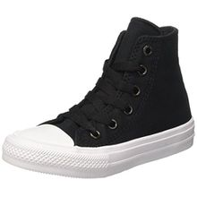 Converse Unisex-Kinder CTAS Ii Hi Sneakers, Schwarz (Black/White/Navy), 34 EU