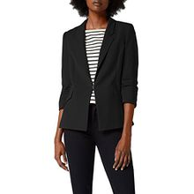 comma Damen Blazer 85899540465, Grau (Black 9999), 36