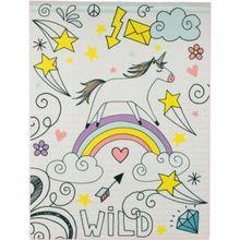 Kinderteppich Unicorn wild, mehrfarbig, 95 x 125 cm