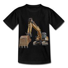 Spreadshirt Bagger Kinder T-Shirt, 110/116 (5-6 Jahre), Schwarz