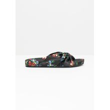 Knotted Satin Slip Ons - Black