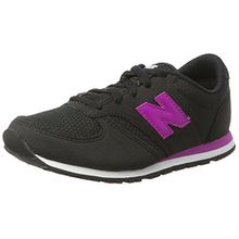 New Balance Unisex-Kinder Sneaker, Schwarz (Black/Pink), 32 EU (13 UK Child)