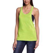 Urban Classics TB462 Damen Sport T-Shirt Ladies Loose Burnout Tanktop gelb (Neonyellow) X-Small