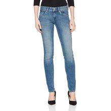 TOM TAILOR Damen Jeans Slim Carrie Double Button, Blau (Light Stone Wash Denim 1051), W30/L32 (Herstellergröße: 30)