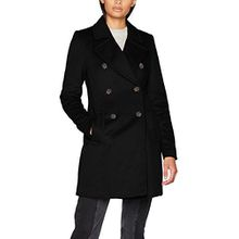 VERO MODA Damen Mantel Vmpisa Rich 3/4 Wool Jacket Boos, Schwarz (Black Beauty Black Beauty), 36 (Herstellergröße: S)