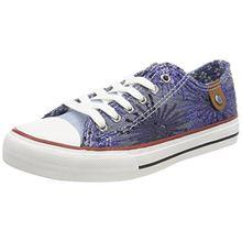 Fritzi aus Preußen Damen HAVA Toe Cap Sneaker Sparkles, Blau (Blue), 41 EU