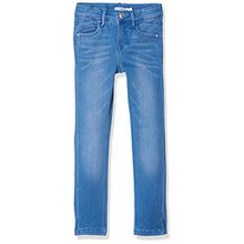 NAME IT Mädchen Jeans Nkfpolly Dnmtia 2004 Pant Noos, Blau (Medium Blue Denim), 158