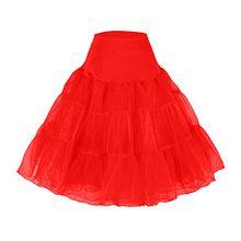 Petticoat Unterrock 50er Jahre krinoline hoopless Kleid tutu Petticoat kleid 50s tüllrock kinder rockabilly net petticoat skirt Crinoline Vintage Retro Mehreren Farben Röcke Swing Kleid