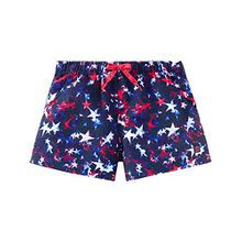 Schiesser Mädchen Badeshorts Aqua Beach-Shorts, Mehrfarbig (Multicolor 904), 140
