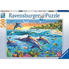 Puzzle 500 Teile, 49x36 cm, Bucht der Delfine