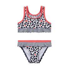 SANETTA Bikini mit Schößchen hellrot / schwarz / weiß