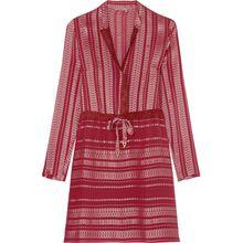 Danae Kleid aus Jacquard aus einer Seidenmischung mit Velourslederbesätzen