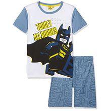 LEGO BATMAN Jungen Zweiteiliger Schlafanzug 79210, Bleu (Bleu Jaune), 8 Jahre (Herstellergröße: 8 Jahre)