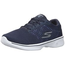 Skechers Damen Go Walk 4-Exceed Sneakers, Blau (NVW), 38.5 EU