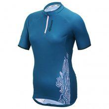 Qloom - Sarina Jersey S/S - Radtrikot Gr L;S;XS blau;rot
