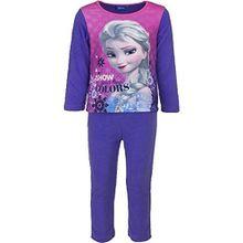 Disney Frozen Anna Elsa Kinder Winter Polar Fleece Pyjamas / Nachtwäsche (Lila , 4 Jahre)