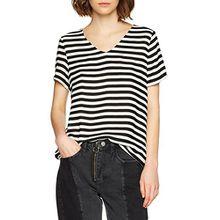 ICHI Damen T-Shirt Blisa SS, Schwarz (Black 10011), 36 (Herstellergröße: S)