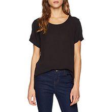 ICHI Damen T-Shirt Marrakech SS 4, Schwarz (Black Solid 10011), 40 (Herstellergröße: L)