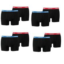 HEAD Men Boxershort Basic Boxer 8er Pack (XL, Red/Blue/Black)