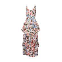 Missguided Kleid 'Floral Ruffled Midi Dress' pink