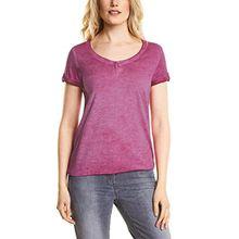 Cecil Damen T-Shirt 311938 Janna, Rosa (Magic Pink 11277), X-Small