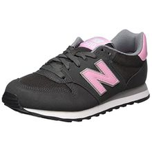 New Balance Damen Sneaker, Grau/Rosa, 37.5 EU (5 UK)