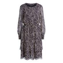 Midi-Kleid mit Animal-Print