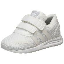 adidas Unisex-Kinder Los Angeles CF Sneaker Low Hals, Elfenbein (Footwear White), 23 EU