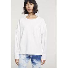 CLOSED Material Mix Sweatshirt white