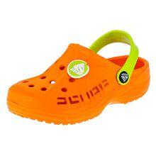 2 Surf Kinder Clogs Badeschuhe Sandalen für Jungen und Mädchen in Vielen Farben M211orgn Orange Grün 31