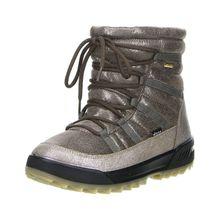 Vista Damen Winterstiefel Snowboots Stiefeletten beige/braun/bronze/metallic silber Damen