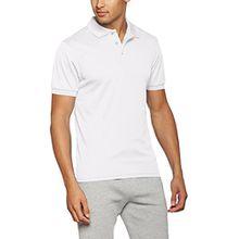 James & Nicholson Herren Poloshirt Men´s Active Polo, Weiß (White), Medium
