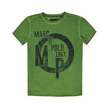 Marc O'Polo Kids Jungen T-Shirt 1/4 Arm, Grün (Greenery 5081), 128