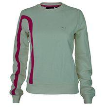 Fila Crew Neck Sweat Womens Damen Sport Freizeit Sweatshirt Creme Weiß, Grösse:L