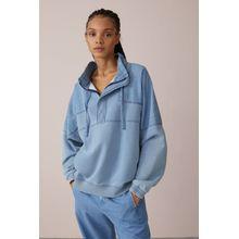 CLOSED Fabric Mix Indigo Sweatshirt mid blue