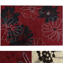 Design Teppich Marguerite | moderner Wohnzimmerteppich mit Trend Blumen Muster | in 2 Größen und vielen Farben für Wohnzimmer, Esszimmer, Schlafzimmer etc. | rot 120x170 cm