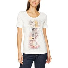 GERRY WEBER Damen T-Shirt Spice Bazaar, Mehrfarbig (Ecru/Weiss/Gelb Druck 9048), 48
