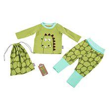 Sigikid Baby-Jungen Zweiteiliger Schlafanzug Pyjama, Grün (Herbal Garden 355), 80